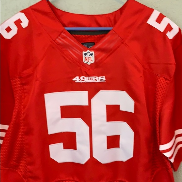100% authentic 8406c 4397d NFL SF 49ers Jersey 56 FOSTER